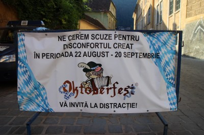 The sign for Oktoberfest