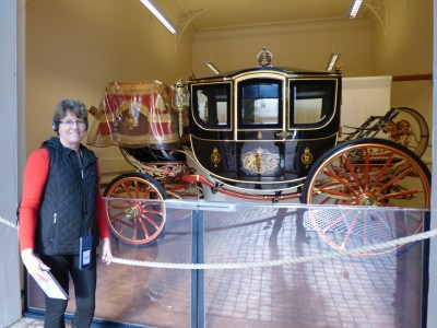 Here I am with one of the first carriages we saw