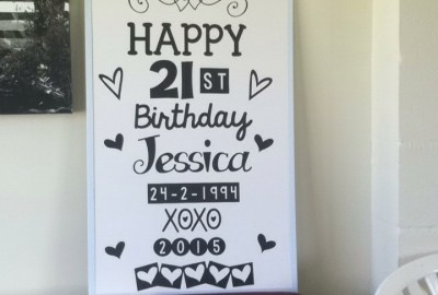 And with the help of my cricut and some vinyl and a white board, I made another celebration board :-)