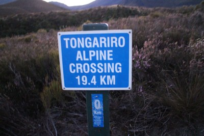 The distance of the crossing. We had a guide with us so we turned at the highest point of the crossing, carried on to Tongariro summit and then our guide led us back to the start point.
