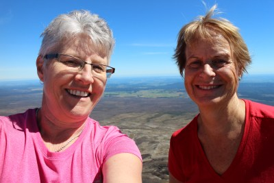 Yay! We did it. Mt Tongariro Summit!