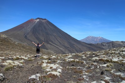 Such a wonderful feeling! We had just climbed Tongariro with Ngauruhoe and Ruapehu in sight :-)