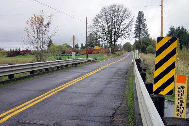 COURTESY PHOTO - The Porter Road bridge north of Forest Grove is more than twice as old as its original life expectancy. Its being replaced this summer.
