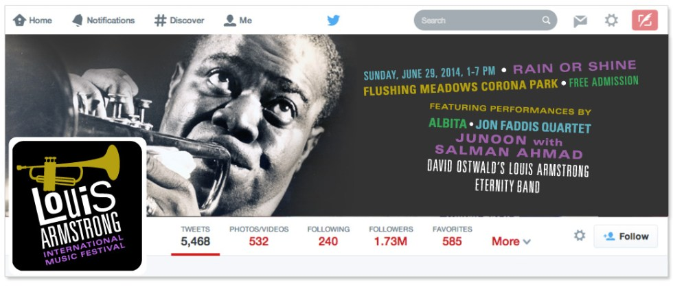 Louis Armstrong Twitter
