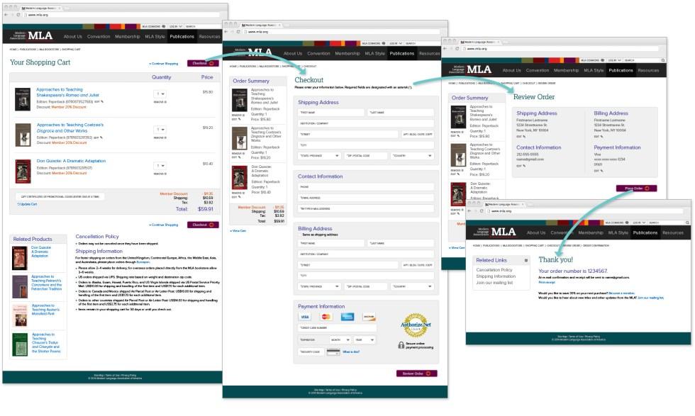 MLA Web Checkout