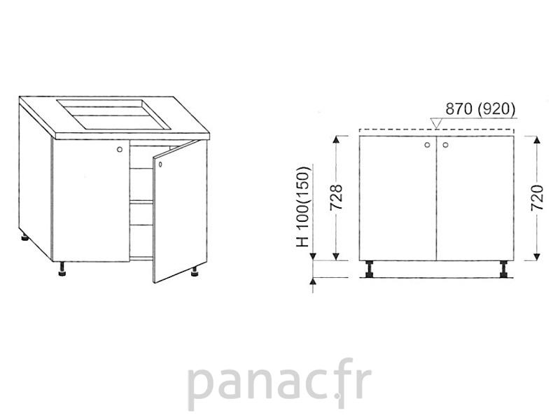 meuble sous plaque de cuisson oc 90 d