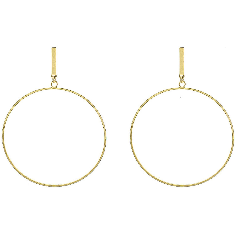 Gold Post Hoop Earrings