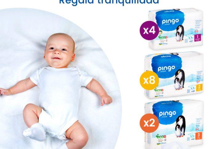 Pañales y toallitas para los primeros meses. Descubre los Packs de nacimiento de Pingo