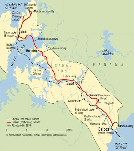 Image result for map of the panama canal railway