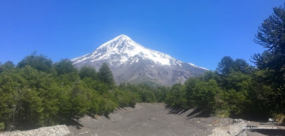 Der Vulkan Lanin ist immer im Blickfeld