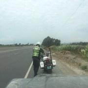 Polizisten in Peru, die sich gerne bestechen lassen wollen.
