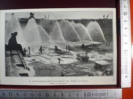 Struttura Stadium: immagine dei lavori di costruzione dello stadium Torino 1911