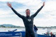 Greg Paltrinieri, tris d'oro agli Europei di nuoto in acque libere con dedica ai bambini