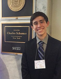 Eric Doppelt, 15, traveled to Washington, D.C., in June for National Pancreatic Cancer Advocacy Day to speak with members of Congress about why pancreatic cancer research funding is important to him.