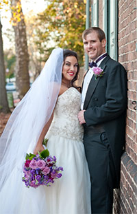 Volunteers David and Lauren Annal got married on November 13, 2015, which also happened to be World Pancreatic Cancer Day.