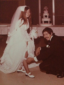 Vic and Roberta Luna's wedding day in 1974.