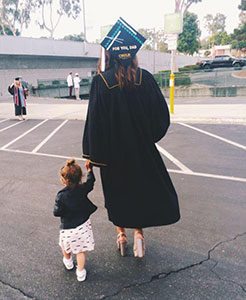 Cheyenne and her daughter Paisley after college graduation in June 2015.