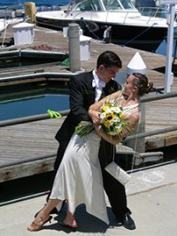 Tyler Noesen and the love of his life, Eva. They were married one week after his diagnosis in 2006.