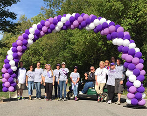 Doug and the PurpleRideStride planning committee celebrate after a successful 2015 event!