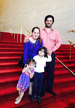 A recent photo of McAllister with her husband and children