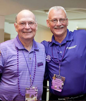 Michael (left) and Ralph at Advocacy Day 2013. The two pancreatic cancer survivors met at Advocacy Day three years earlier and became fast friends.