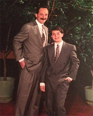 Ethan and his dad, Jeff.