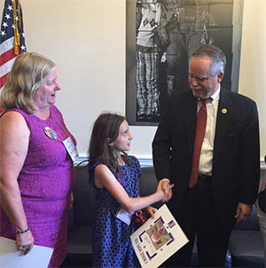 Like mother, like daughter: Annette and Stephanie Santilli meet with Rep. David McKinley of West Virginia in his office in Washington, D.C. during Advocacy Day.