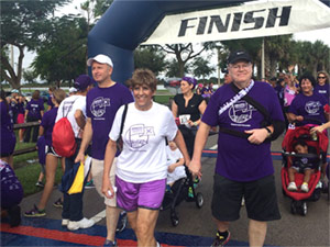 Donna Robinson and her husband at PurpleStride Broward-Palm Beach 2015.