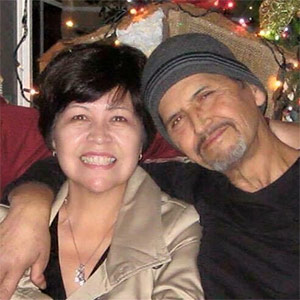 Lupe with her best friend of 38 years – her late husband, Louie.