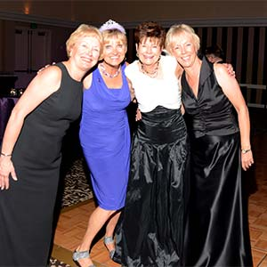 """Four of the 10 friends who organized the """"Celebration of Hope"""" gala in Seattle for 10 years (from left to right): Jan Rosenlund, Maija Eerkes, Marie Gunn and Ann Mix."""