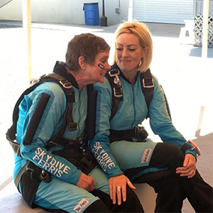 Natascha and Susie before skydiving
