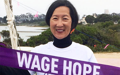 Cathy Quon, top PurpleStride fundraiser