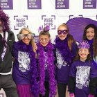 The Heidens dress up at PurpleStride Portland, 2017