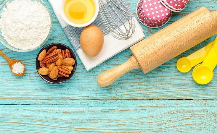 Basic ingredients to begin a summer dessert
