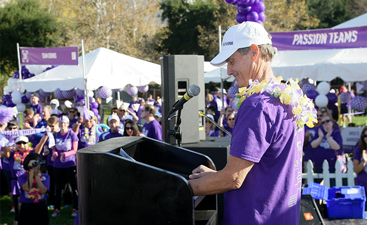 A pancreatic cancer survivor speaks to patients and their loved ones