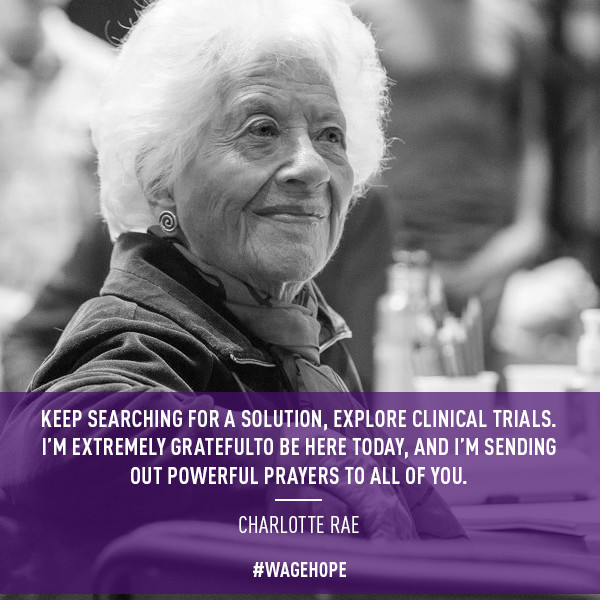 Actress Charlotte Rae encourages the pancreatic cancer community to explore clinical trials.