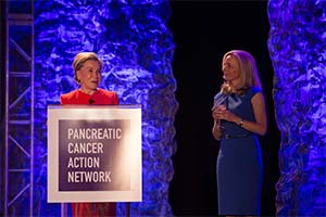 PanCAN Board of Directors Chair with PanCAN President and CEO