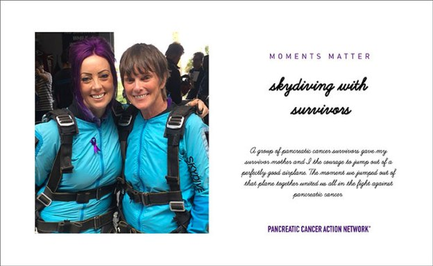 A photo card and story highlight a special moment between a pancreatic cancer survivor and her daughter
