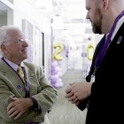 Two longtime pancreatic survivors at PanCAN's 20th anniversary in their national office