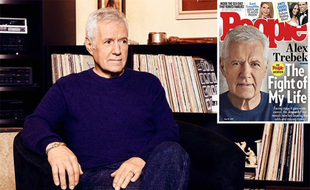 Pancreatic cancer survivor, Alex Trebek, on the cover of People magazine