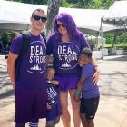 Young pancreatic cancer survivor participates in fundraising walk with his wife and two sons