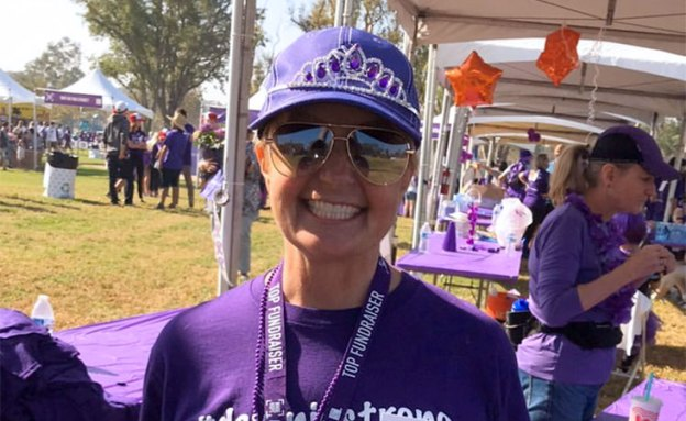 Dawnie Young, pancreatic cancer survivor at 5K walk/run event in Orange County, California