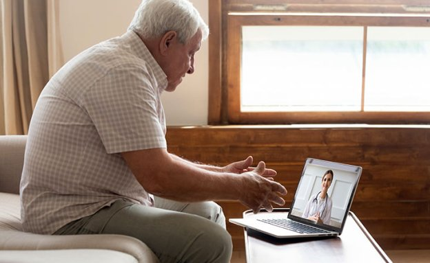Pancreatic cancer patient speaks to his doctor about COVID-19 via video chat