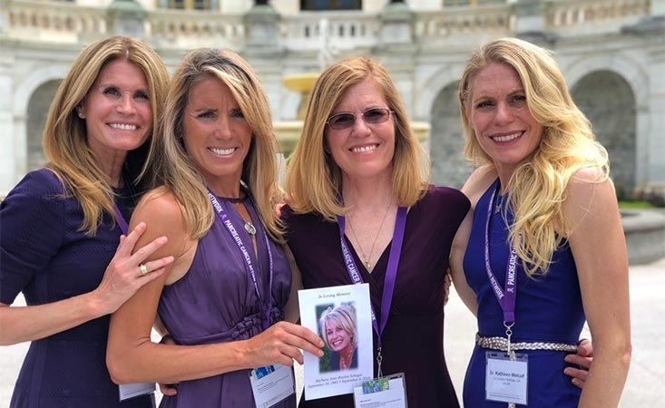 Four sisters advocate for research funding in Washington, D.C., at PanCAN's Advocacy Day