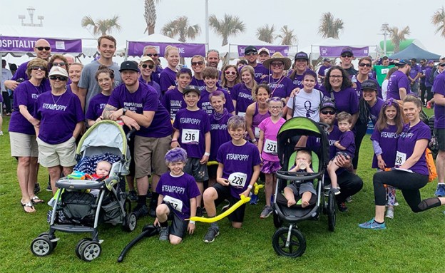 PurpleStride Virginia Beach team at 2019 PanCAN walk to raise funds to fight pancreatic cancer