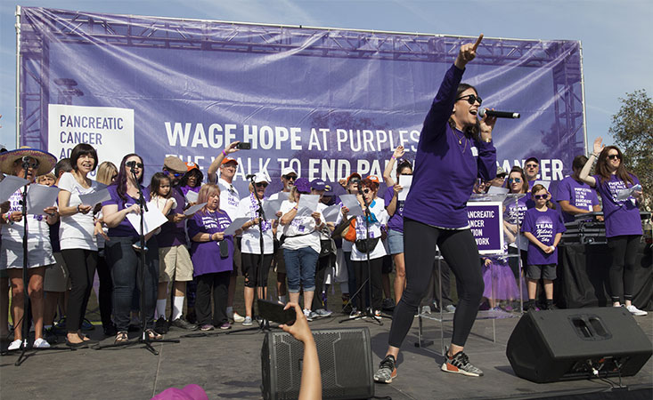 "Erin Willett performs ""Hope's Alive"" at PurpleStride pancreatic cancer fundraiser in L.A."