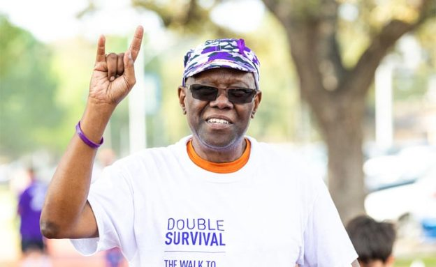 PanCAN PurpleStride 5K walk participant