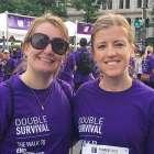 Oncology nurse and PanCAN volunteer at PanCAN PurpleStride 5K walk to end pancreatic cancer