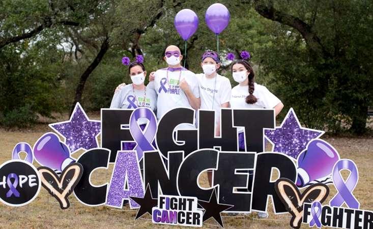 PanCAN PurpleStride San Antonio walk team in November 2020