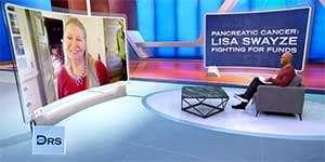 "Lisa Niemi Swayze discusses Patrick Swayze and PanCAN on ""The Doctors"" TV show Nov. 2020"